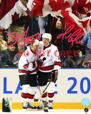 Mario Lemieux & Steve Yzerman Dual Signed Team Canada 2002 Olympic 8x10 Photo RP