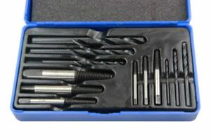 US Pro 12PC BROKEN SCREW EXTRACTOR SET STUD REMOVER EASY OUTS HSS4241 Steel 2601