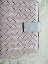 filofax/ pale pink/leather intrecciato organizer/pockets/diaryladies/mint/not BV