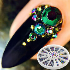 Mixed Size Black Rhinestone Decoration Nail Art DIY 3D Crystal Gems UK