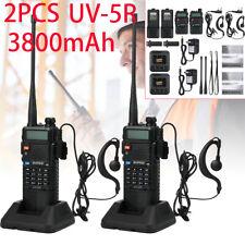 2X UV-5R BaoFeng Walkie Talkie Two Way Radio Dual Band UHF/VHF Transceiver 128CH
