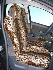 Auto Sitzbezüge Schonbezüge Sitzbezug Kunstpelz Leopard, Universal Nur Vordersit