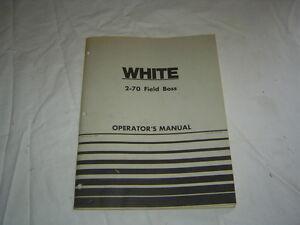 White 2-70 tractor operator's manual
