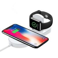 Induktions Ladegerät Wireless Charger QI Ladestation kabellos 2in1