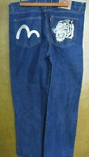 Evisu Jeans with Embroidered Tiger Pockets Chinese 42 x 33