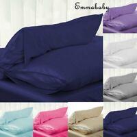Soft Standard Queen King Satin Silk Pillowcase Pillow Case Cover Home Decor Bed