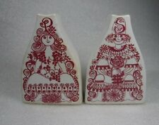Figgjo Norway Arden Salt and Pepper Shakers Red
