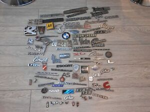 Job Lot of Car Badges Emblems Classic Vintage Ford Austin Vauxhall Autojumble