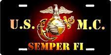 USMC marines new design aluminum original art painting license plate