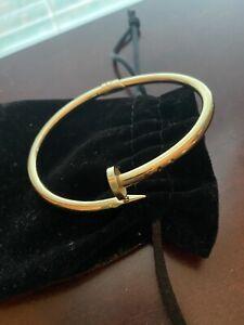 14kt Gold Nail Bracelet - EUC