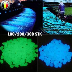 100/300Stk. Leuchtsteine Leuchtkiesel leuchtende Deko Kiesel Steine Garten DHL