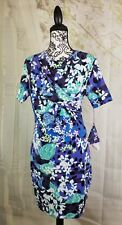 Peter Pilotto womens stretch dress size large floral print short sleeves b23