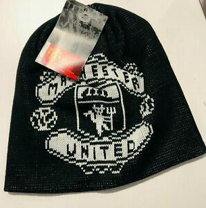 Manchester United beanie hat Knitted Ski Hat Black Official product