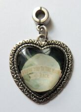 """Slider Charm for Snake Chain, Puffy Heart, """"I Love You to the Moon & Back"""""""