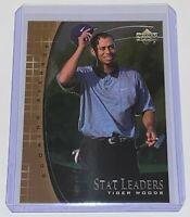 2001 Upper Deck Stat Leaders Tiger Woods #SL11 UD Golf PGA Tour Rookie Card RC