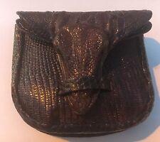 Vintage Baby Alligator Skin with Full Head/Taxidermy Belt Mount Wallet