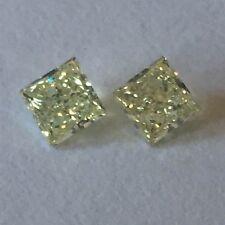 0.47CT FANCY YELLOW NATURAL PRINCESS CUT LOOSE DIAMOND