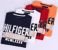 NWT TOMMY HILFIGER MEN CLASSIC LOGO CREW-NECK TEE T-SHIRT SHORT SLEEVE-FREE SHIP