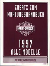 HARLEY Zusatz Wartungshandbuch 1997 Sportster XLH Hugger DEUTSCH 99486-97G Buch