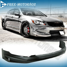 FOR 08-10 HONDA ACCORD V6 4DR FRONT BUMPER LIP SPOILER BODYKIT MUGEN STYLE PU