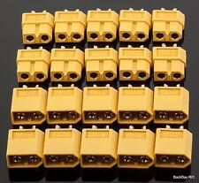 10 Male / Female Pair Genuine Nylon XT60 / XT-60 Battery Bullet Connectors Plugs