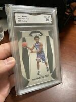 2017-18 Panini Prizm De'Aaron Fox #24 Rookie RC GMA 10 Gem Mint