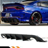 For 2015-2020 Dodge Charger SRT R/T Scat Pack Matte Black Rear Bumper Diffuser
