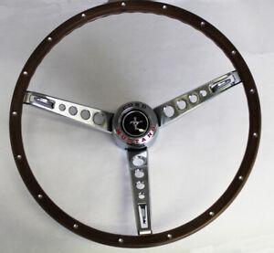 NEW 1965-1966 Ford Mustang Pony Steering Wheel Original Look Woodgrain Deluxe