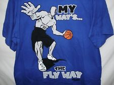 And1 Womens T-Shirt Size Xl 18/20 Blue My Way Is The Fly Way New NWT A87