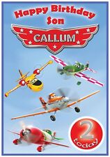 Disney Planes  Birthday Card - Fully Customisable with name & age - Awesome !