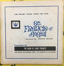 Sound Track From The Film ST. FRANCIS OF ASSISI Narrated by Marvin Miller LP VG+
