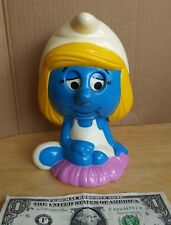 Smurfs 1983 Pull String Talking Girl Figure by Wallace Berrie Co.