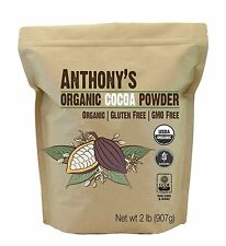Organic Cocoa Powder (2 pounds) by Anthony's, Certified Gluten-Free & Non-GMO