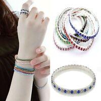 Fashion Crystal Rhinestone Stretch Bracelet Bangle Wedding Bridal Wristband