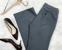 BANANA REPUBLIC Women's Dress Pants Trousers Gray Pinstripe Career Straight 0 P