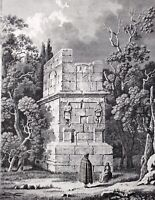 Antique Print 1806 Tomb of the Scipions Catalonia etching Alexandre De Laborde