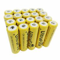 20pcs Batteries 3.7V 18650 9800mAh Li-ion Rechargeable Battery for Flashlight