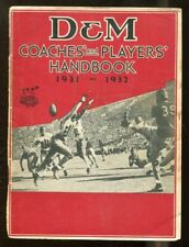 1931-32 D&M Sporting Goods Coaches' and Players' Football Handbook 56034