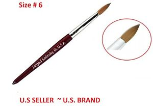 100% Pure  Kolinsky Acrylic Round Nail Brush Size 6 Top Quality by Jargod