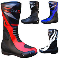 Mens Motorcycle Boots Motorbike Waterproof Leather Biker Short Boots All SIZES
