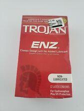 Trojan Enz Non Lubricated Condoms 1 Pack 12 Condoms 06/2021+