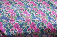 2.80m by 0.91m Hand Printed Floral Fabric Thailand SAYS Tetron Silk. Crisp Light