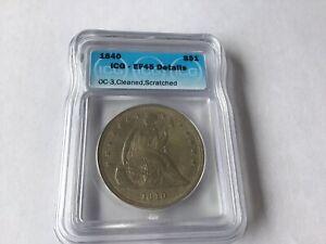 1840 seated liberty dollar
