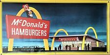MCDONALDS DRIVE-IN HAMBURGER RESTAURANT WALL ART BANNER MURAL VINTAGE AD 2 X 4