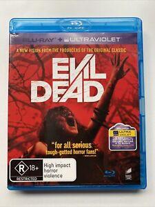 Evil Dead (Blu-ray DVD, 2013) Horror Movie Region A B C