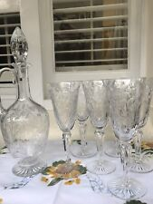 More details for signed crystal decanter with six glasses