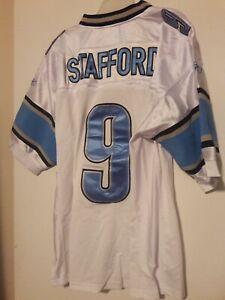 NFL MATT STAFFORD Lions Reebok White Football Jersey Mens Sz 48 New tagged