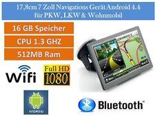 Elebest 17,8cm 7 pouces appareil de navigation, voitures, camions, camping-car, radar, tmc, Android
