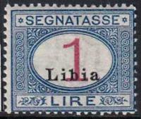 Italy Libia - Tax Sassone n. 8  MNH**  RARE