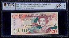 EAST CARIBBEAN STATES 20 DOLLARS ( 1994 ) MONTSERRAT PICK # 33m PCGS 66 UNC OPQ